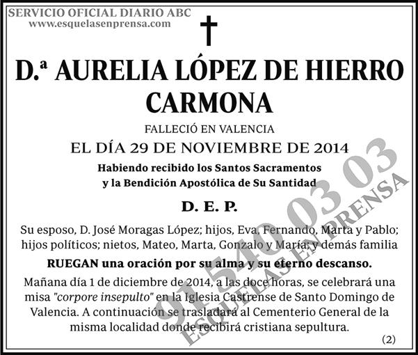 Aurelia López de Hierro Carmona